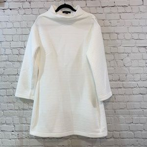 Haoduoyi Quilted White Long Sleeve Dress